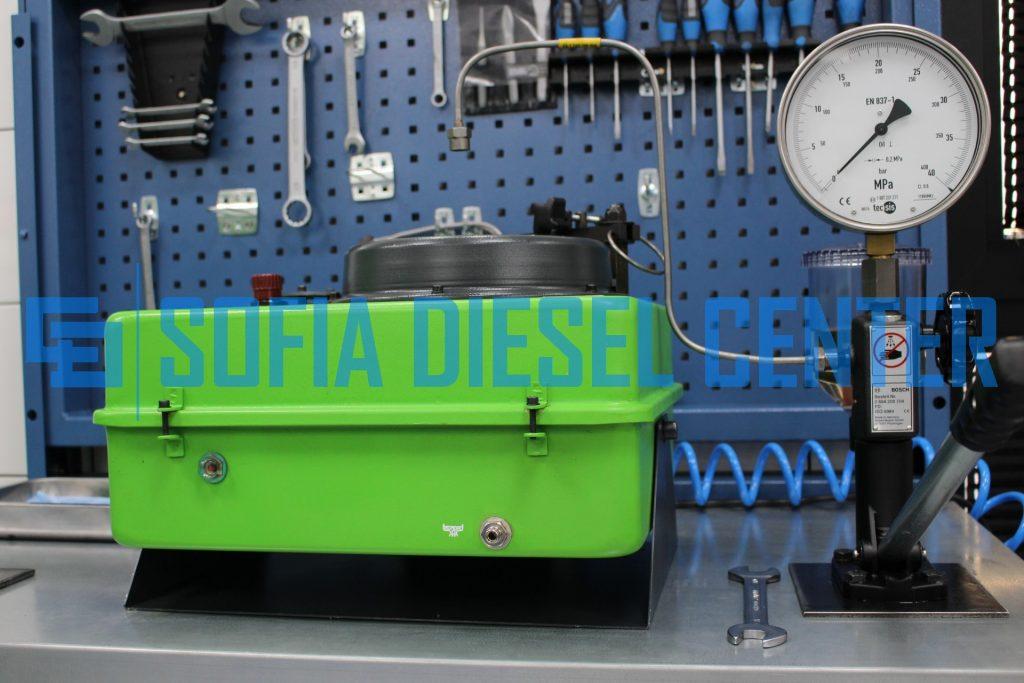 снимка на стенд за проверка на дизелови дюзи